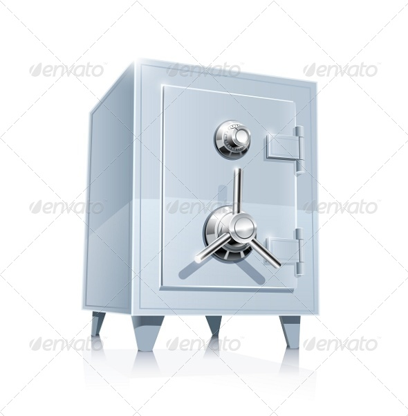 Close Metallic Safe