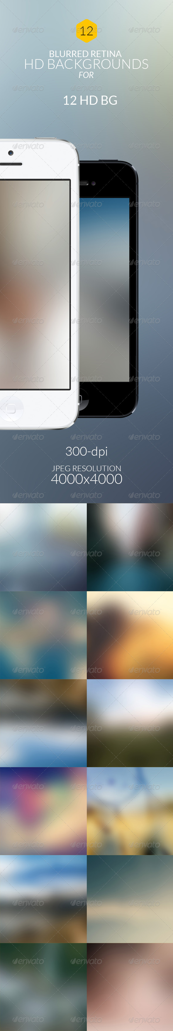 12-HD Blur Soft Backgrounds - Backgrounds Graphics