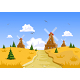 Landscape with Windmills in the Background - GraphicRiver Item for Sale