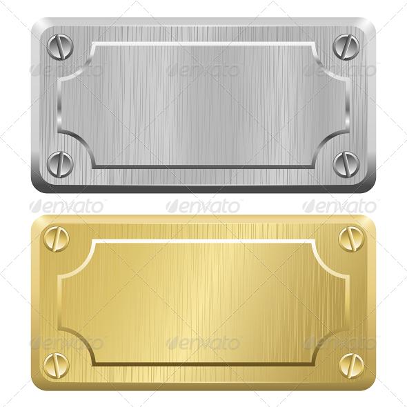 GraphicRiver Metal Label Nameplates 5827377