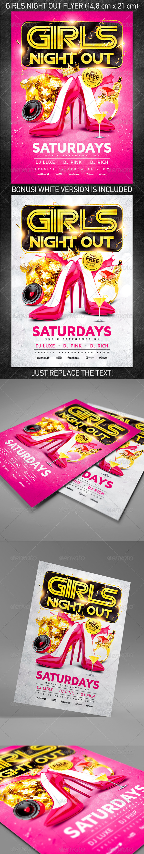 GraphicRiver Girls night out party flyer 5827629