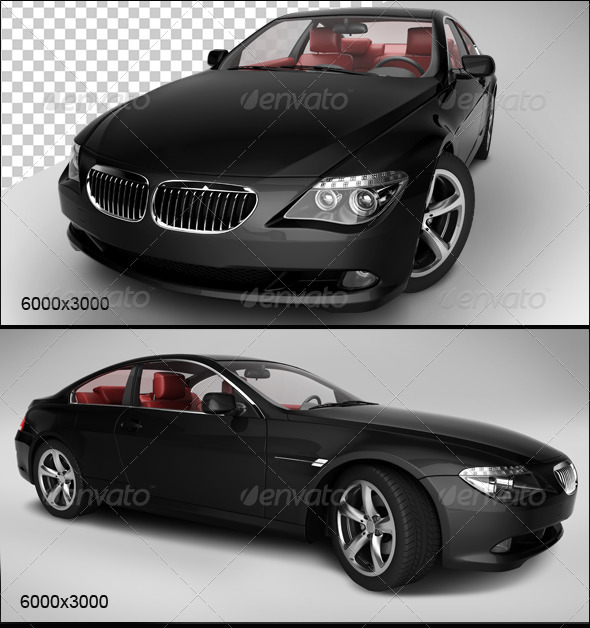 GraphicRiver Black Car 2 5827727