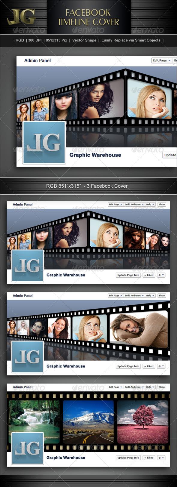 GraphicRiver Facebook Timeline Cover V4 5828216
