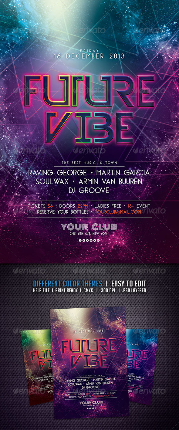 GraphicRiver Future Vibe Flyer 5828745