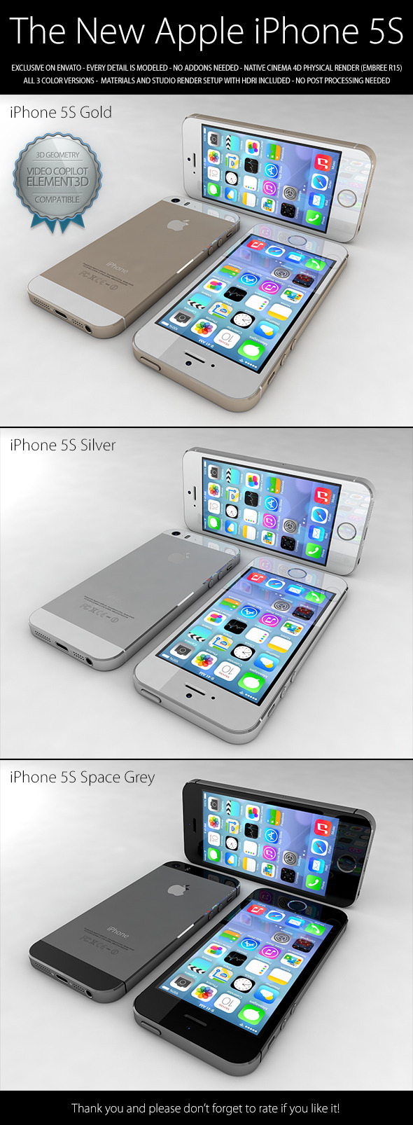 iPhone 5S - 3DOcean Item for Sale