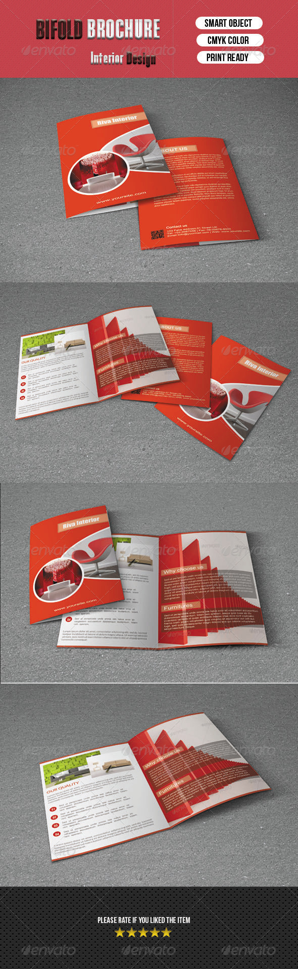 Interior Bifold Brochure - Corporate Brochures