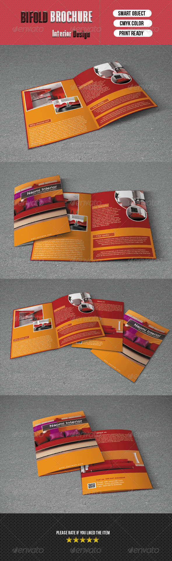 Bifold Brochure- Interior Design - Corporate Brochures