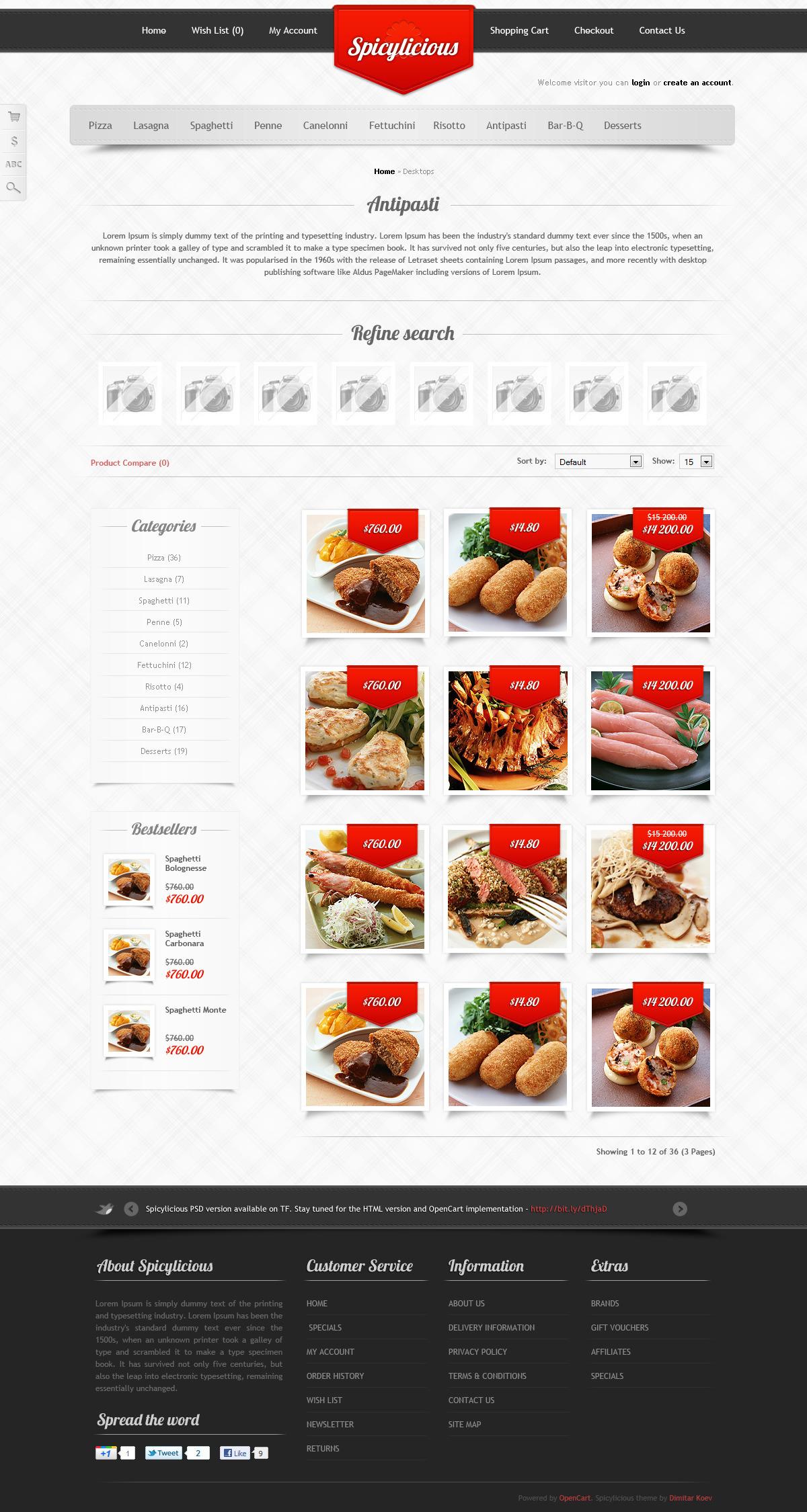 Spicylicious - HTML e-commerce theme