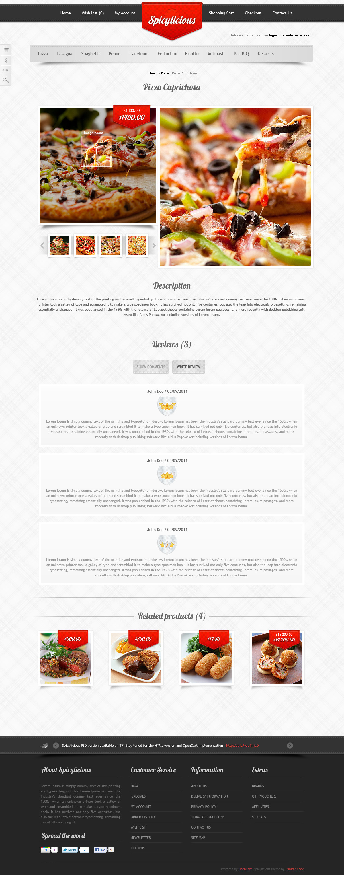 Spicylicious - HTML e-commerce theme