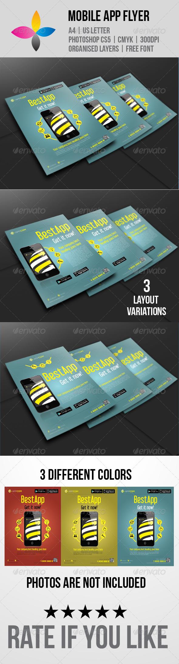 GraphicRiver Mobile App Flyer 5829263