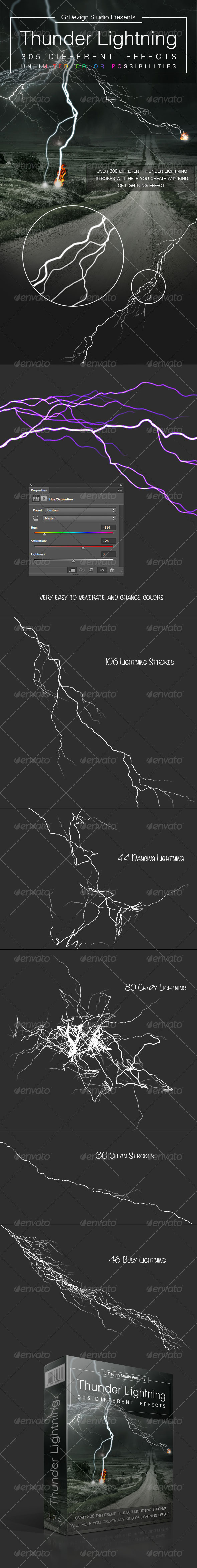 Thunder Lightning Effects - Decorative Graphics