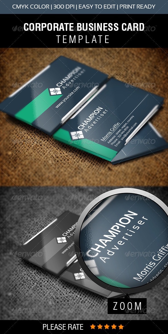 GraphicRiver Champion Business Card 5829817