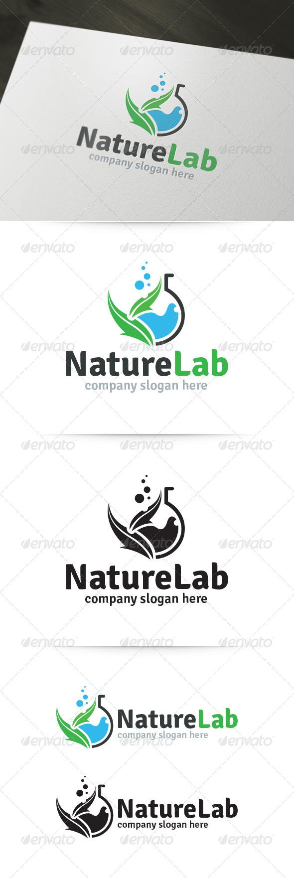GraphicRiver Nature Lab Logo 5819097