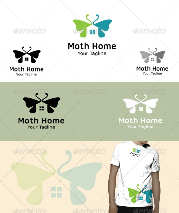 GraphicRiver Moth Home Logo 5830020