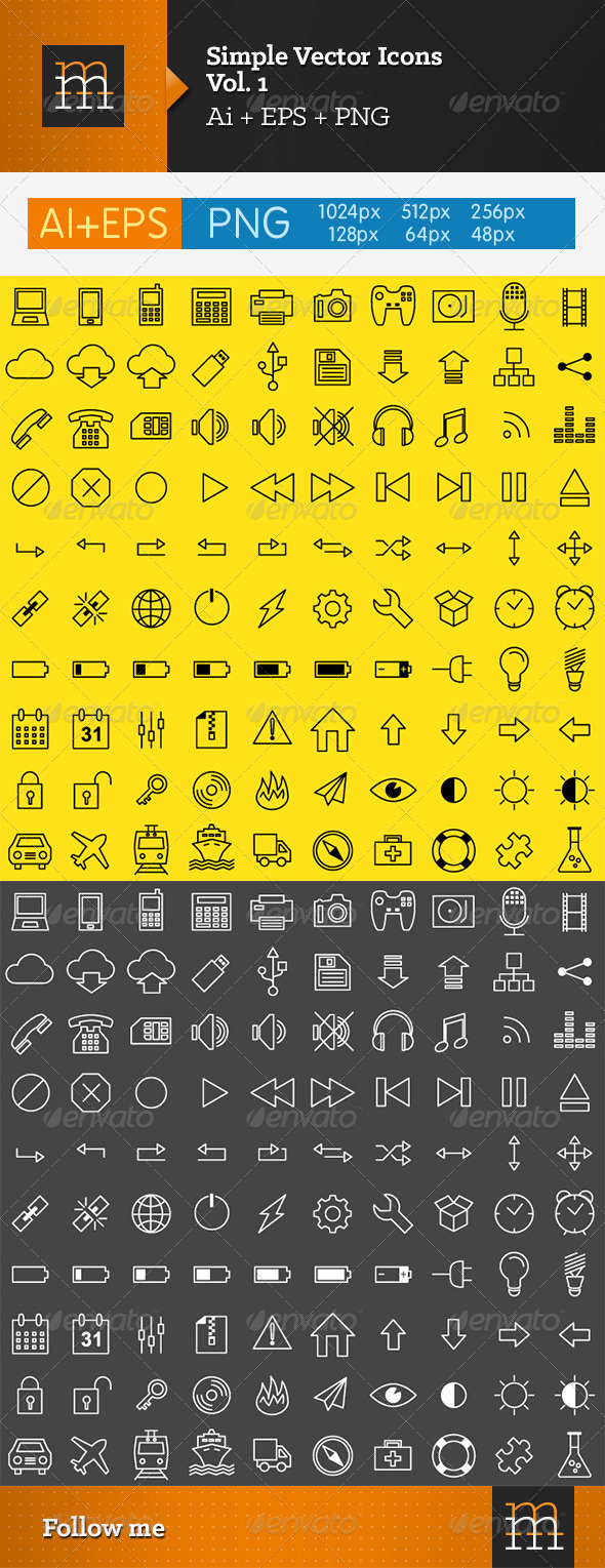 Simple Vector Icons - Vol. 1 - Software Icons