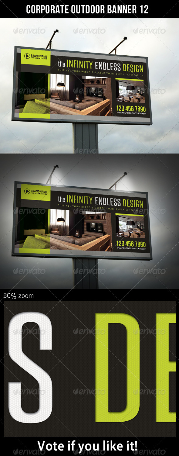 Corporate Outdoor Banner 12 - Signage Print Templates