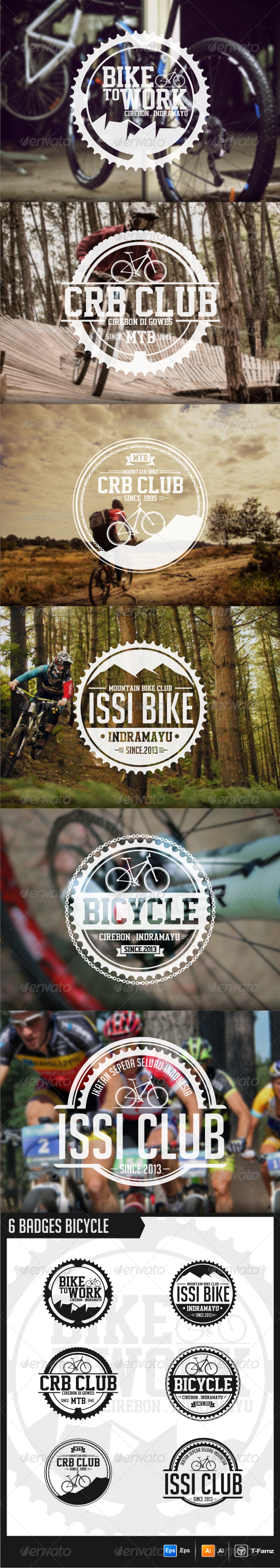 GraphicRiver Bicycle Badges 5830397