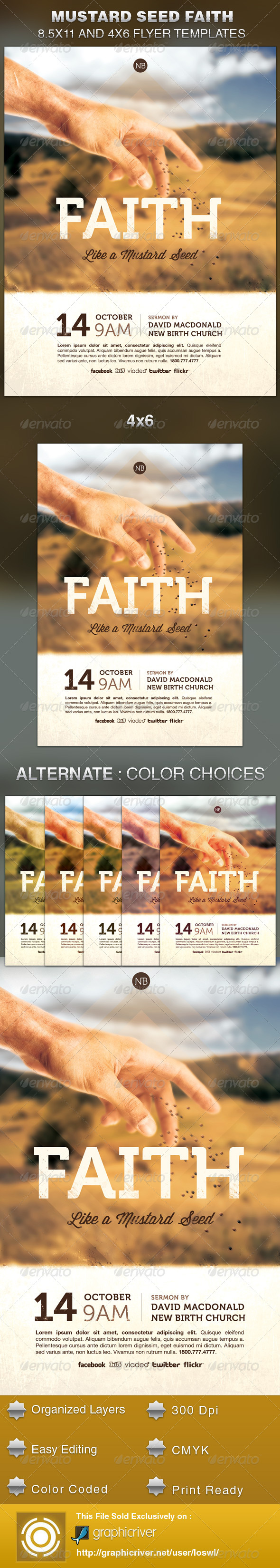 Mustard Seed Faith Church Flyer Template - Church Flyers