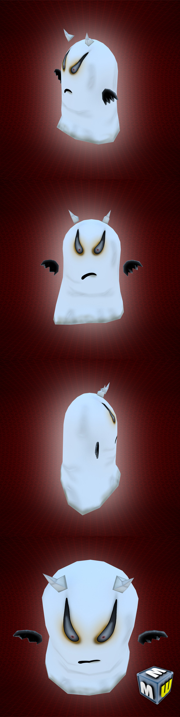 3DOcean Ghost Low Poly Character MAX 2011 5830572