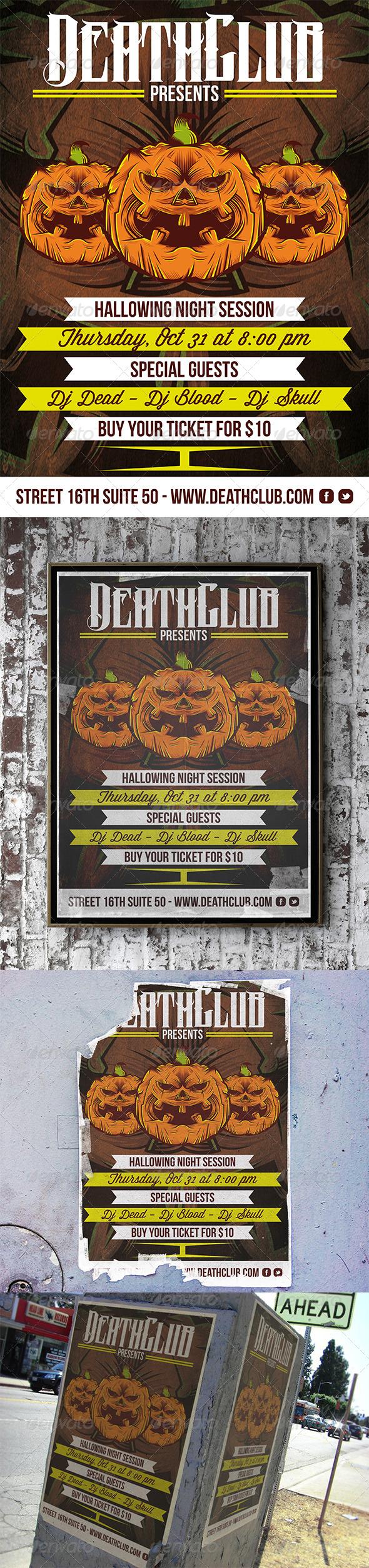 GraphicRiver Halloween Flyer 5830803