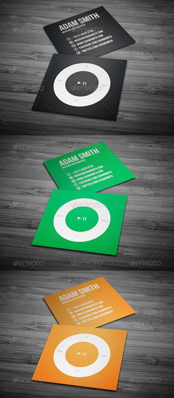 GraphicRiver Mini Music Business Card 5830982