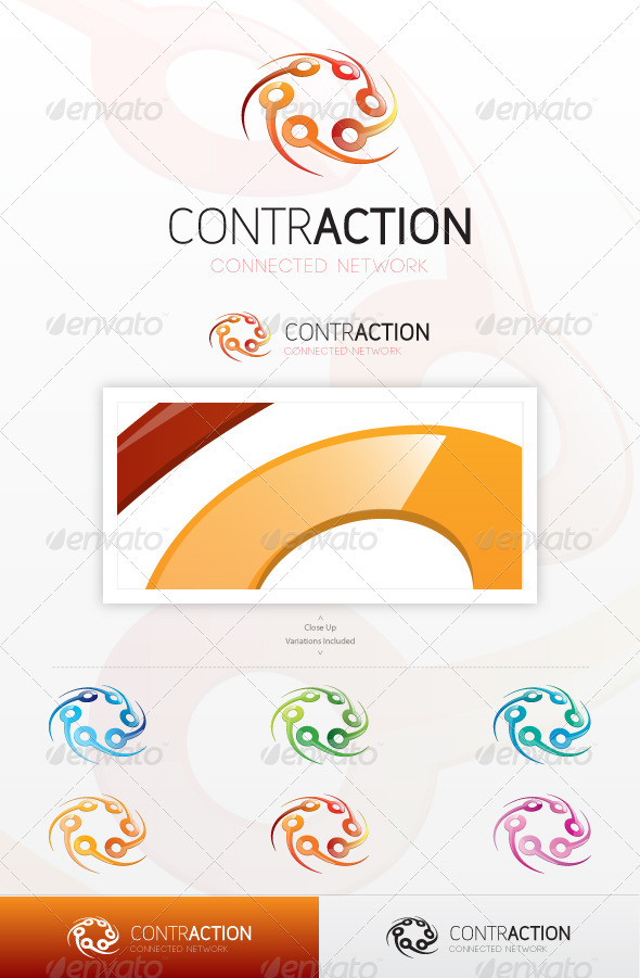 GraphicRiver Contraction Logo 5831068