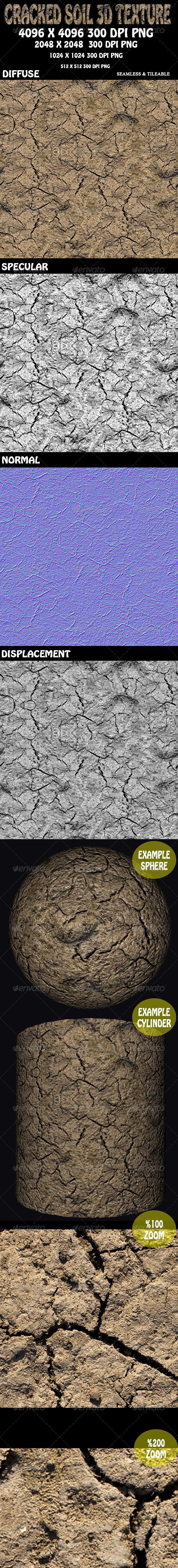 Cracked Soil 1 3D Texture