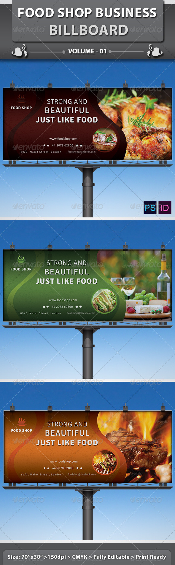GraphicRiver Food Shop Business Billboard v1 5748957