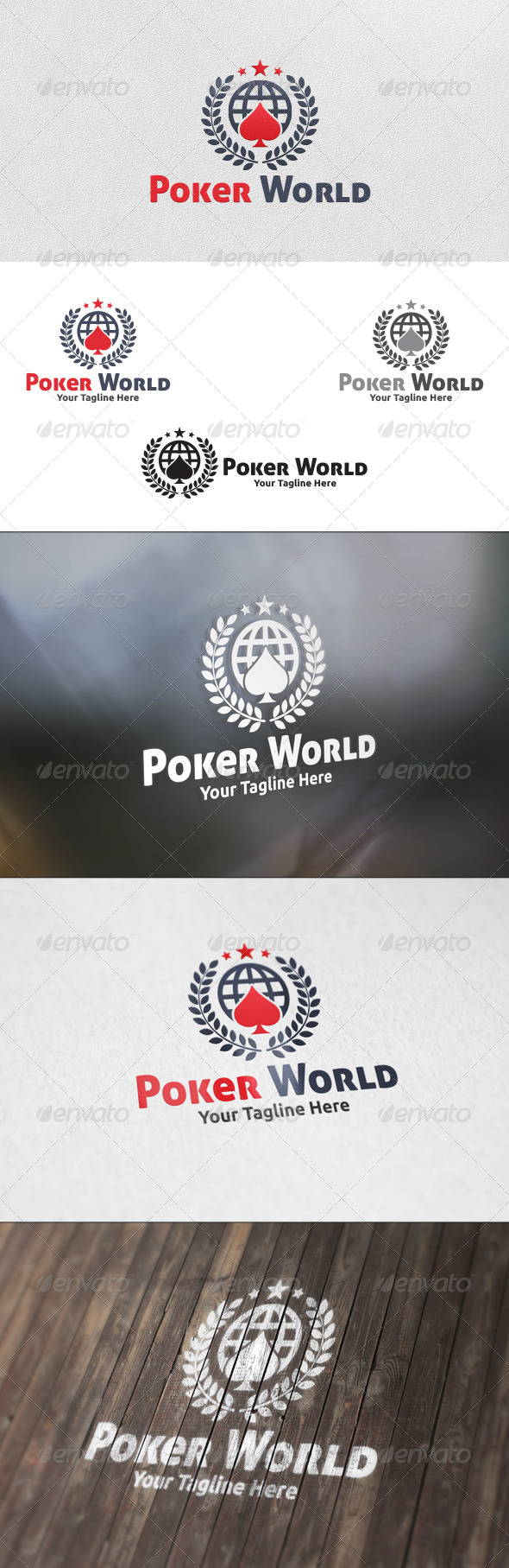 GraphicRiver Poker World Logo Template 5831369