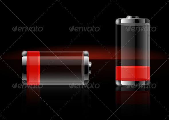 GraphicRiver Glossy Transparent Battery 5831528