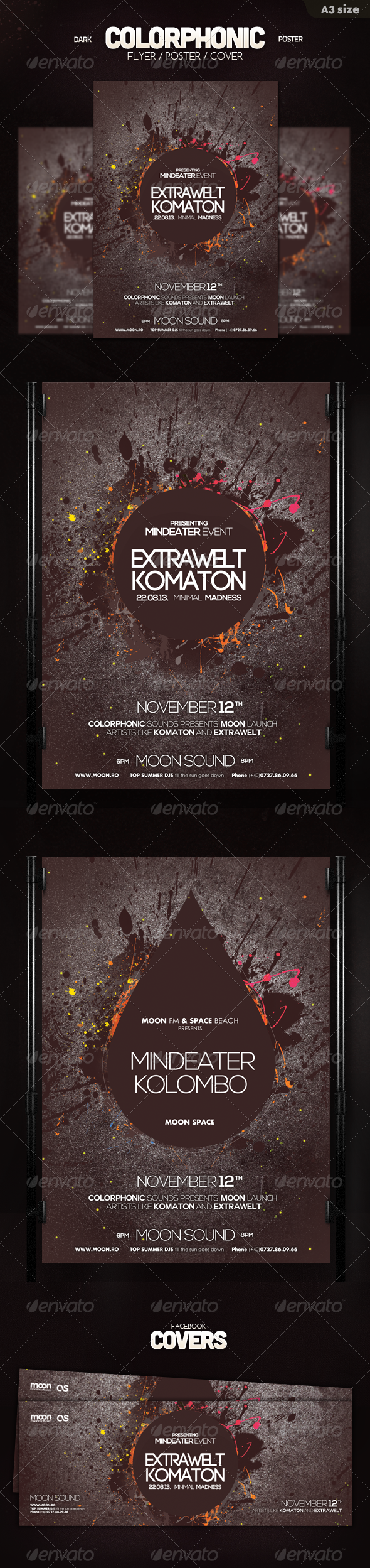 GraphicRiver Dark Colorphonic Poster 5832313