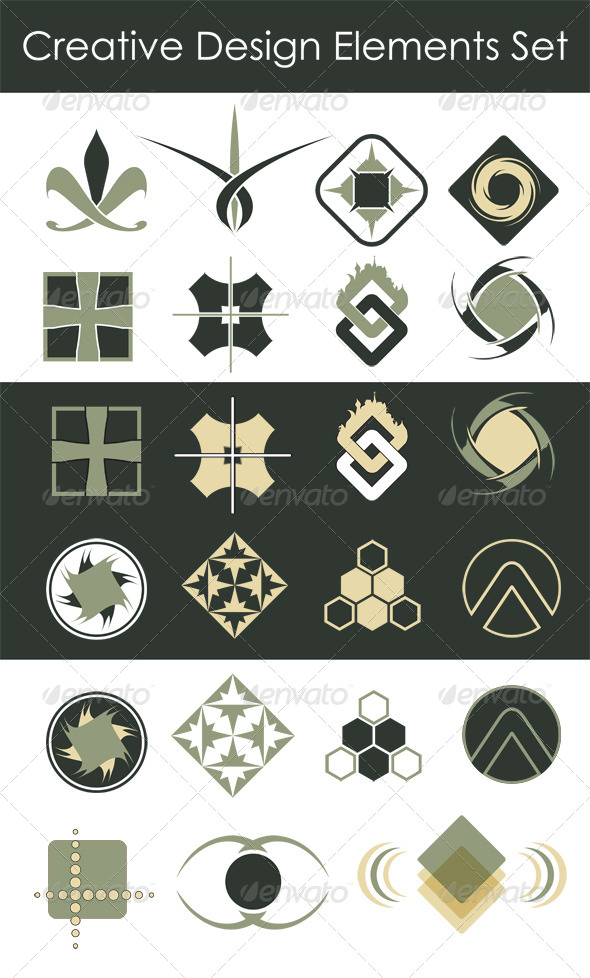 GraphicRiver Creative Design Elements Collection 5832622