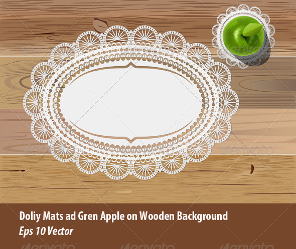 GraphicRiver Doily Mats and Apple 5833128