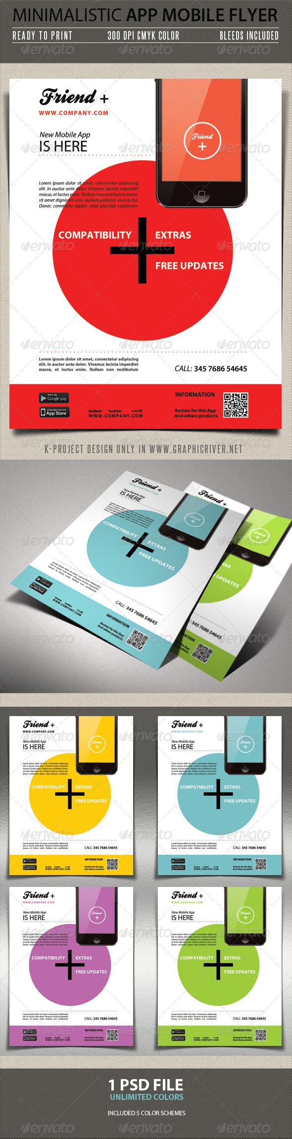 GraphicRiver Minimalistic App Mobile Flyer 5833144
