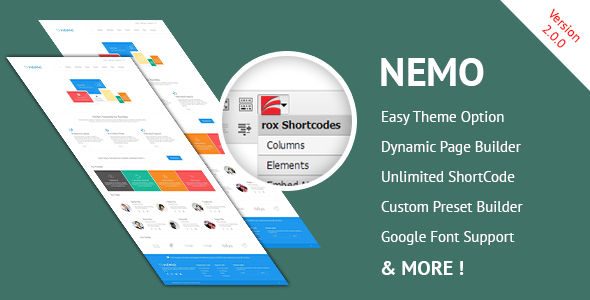 OverView Nemo White Premium WordPress Theme is a clean type WordPress theme for business use. The main important for the template is UX. We had made the templa