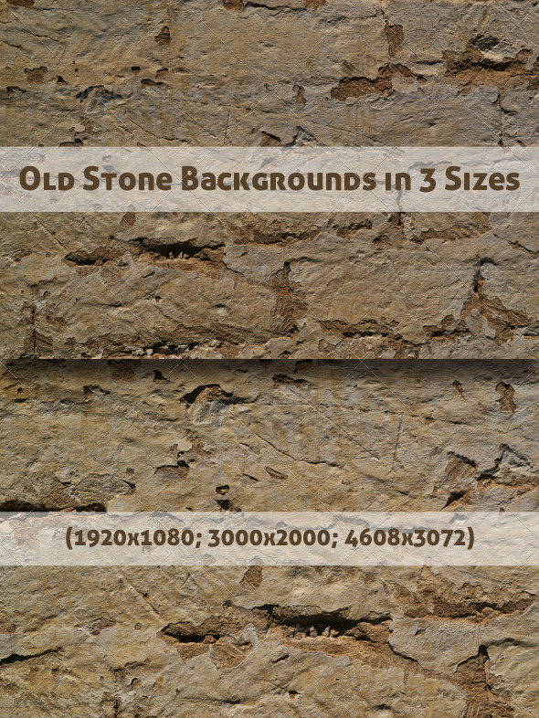 Old Stone Backgrounds in 3 Sizes - Stone Textures