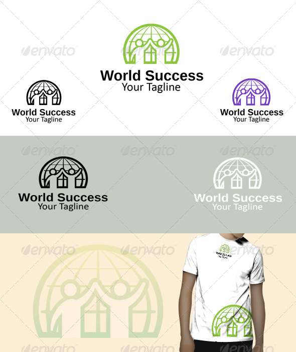GraphicRiver World Success Logo 5833385