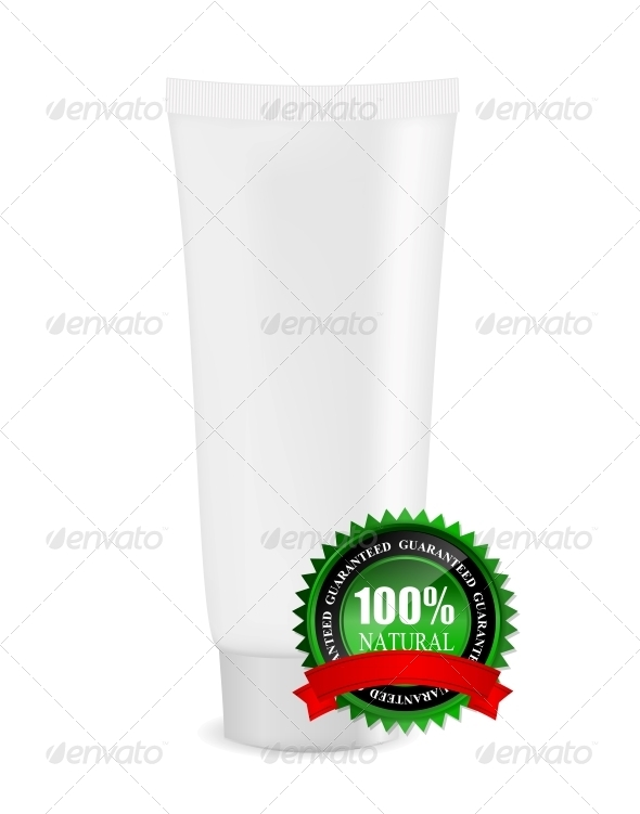 GraphicRiver White Cream Tube with Natural Sign 5833507