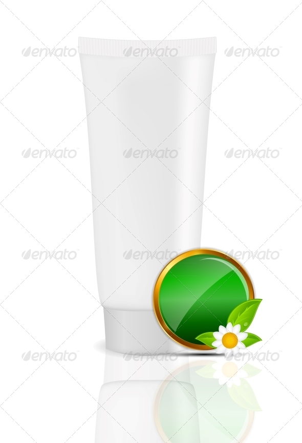 GraphicRiver White Cream Tube with Natural Sign 5833517