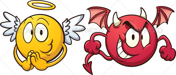 GraphicRiver Angel and Devil Emoticons 5833536