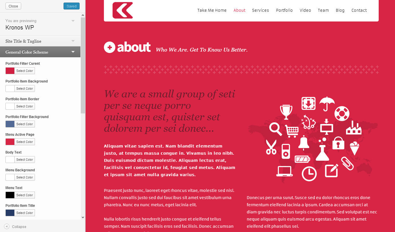 Kronos - One Page Responsive Wordpress Theme