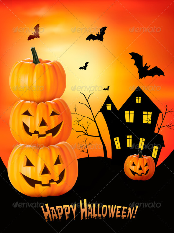 GraphicRiver Halloween Background 5833727