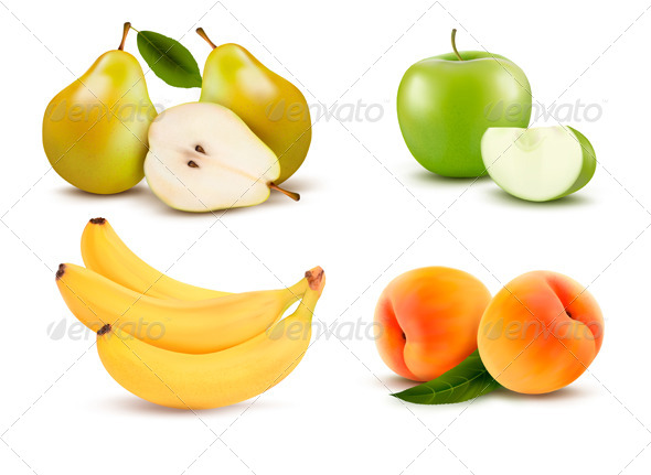 GraphicRiver Big Group of Different Fruit 5833745