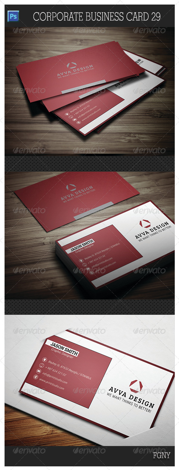 GraphicRiver Corporate Business Card 29 5833882