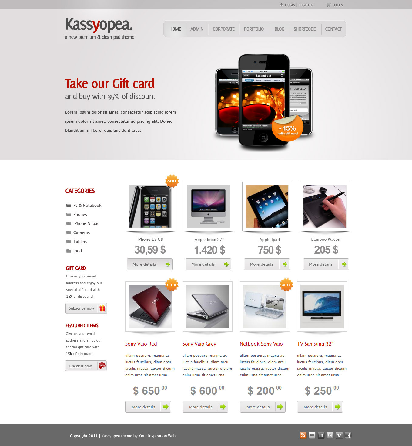 Css xhtml website templates pack june 19 templates