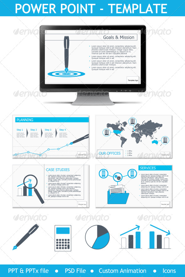 GraphicRiver PowerPoint Presentation Buisiness Results 5791775