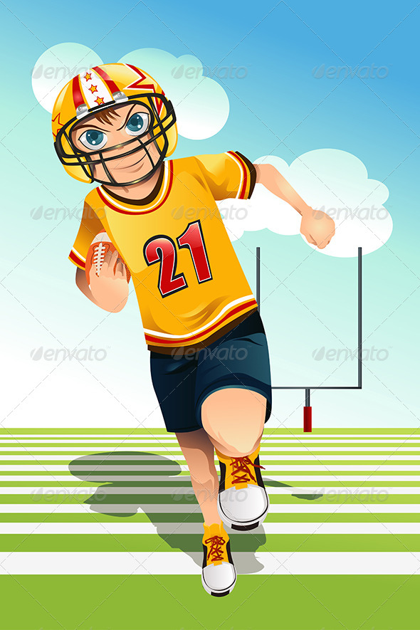 GraphicRiver Boy Playing Football 5834118