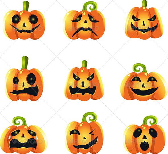GraphicRiver Pumpkins Expressions 5834246