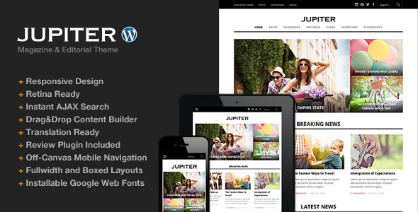 ThemeForest Jupiter Responsive Magazine Theme 5834208