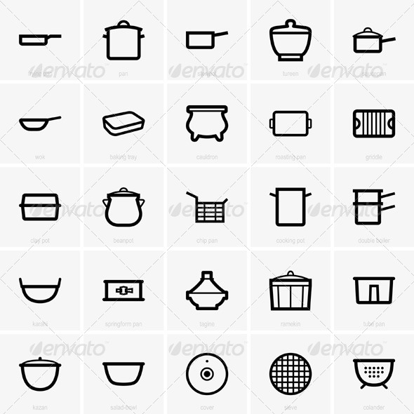 GraphicRiver Kitchenware 5834436